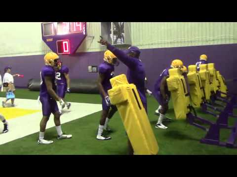 LSU DBs get physical with blocking sled | Video