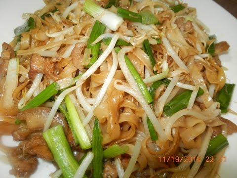 Tradition Stir Fry Pork Belly with Noodles Recipe