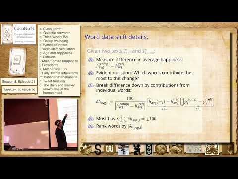 S8E21f: Word shift calculation