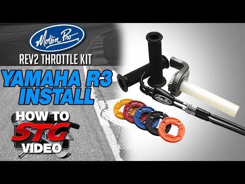 Motion Pro Yamaha R3 REV2 Throttle Kit Install | Sportbike Track Gear