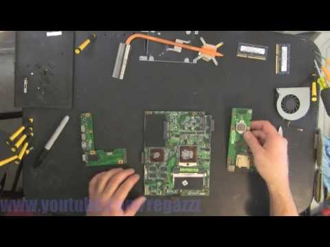 ASUS K52J take apart, disassembly, how-to video (nothing left)