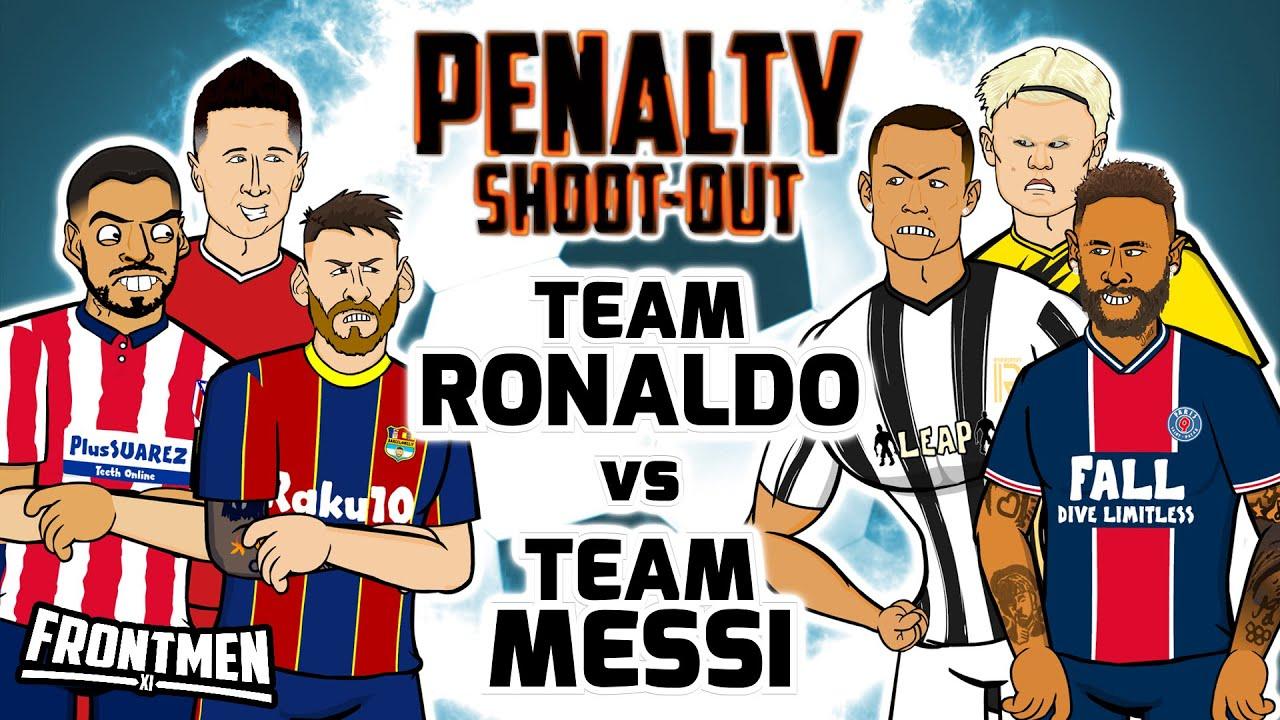 🔥Team Messi vs Team Ronaldo🔥 Penalty Shoot-Out! (Frontmen Season 2.2)
