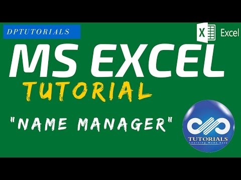 Excel Tricks : Name Manager - Naming a Cell or Range of Cells in EXCEL  || MS Excel || dptutorials