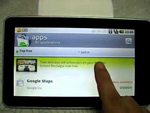 Widget and Android Market by Gpad G11 Android Tablet