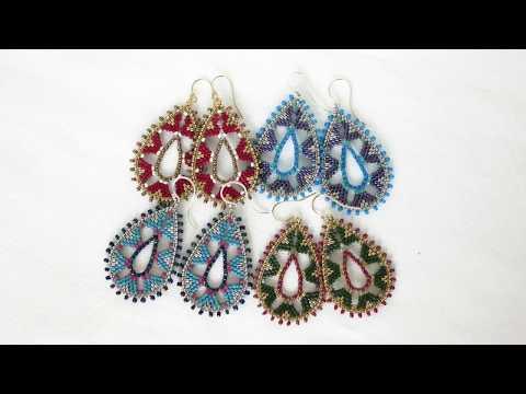 Large Teardrop Brick Stitch Earrings Tutorial