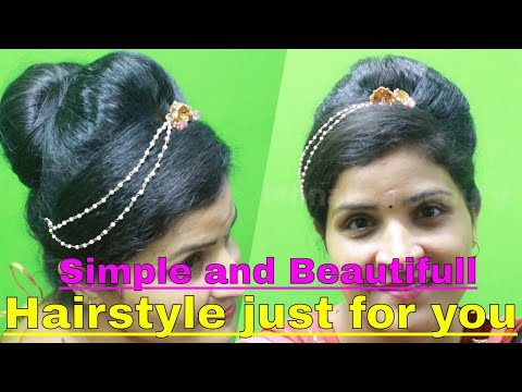 Latest trending bridal juda hairstyle / simple and cute hairstyle for girls