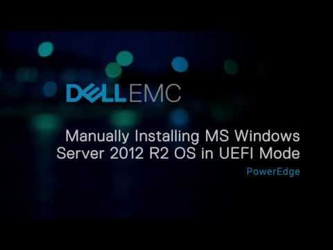 Manually Installing MS Windows Server 2012 R2 OS in UEFI mode