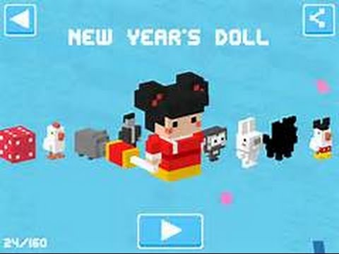 CROSSY ROAD UPDATE (DADDY, Chinese Doll, Easter Bunny, Fire Monkey, Chinese Dragon)