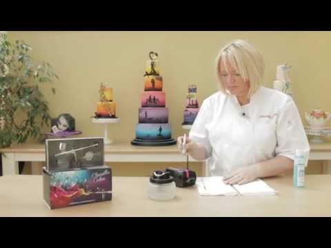 How to thoroughly clean your airbrush if clogged or splatters by Clairella Cakes