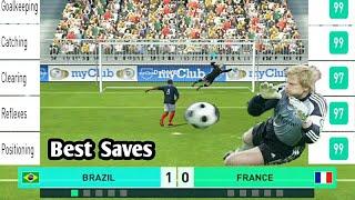Oliver Kahn Vs France | Best Saves  PES 2018 MOBILE - Legend difficulty