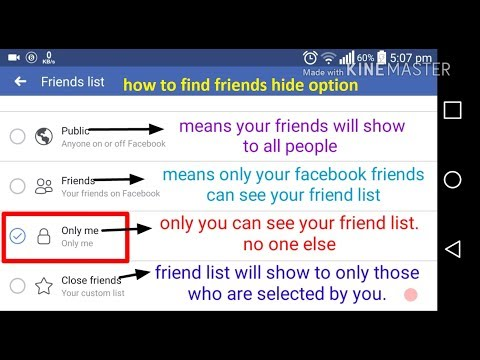 How To Hide Facebook Friend List On Mobile 2018 || Hide Friends On Facebook 2018