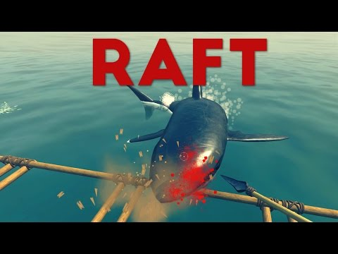 Raft - Shark Killing and Potato Farming! - Let's Play The Raft Gameplay