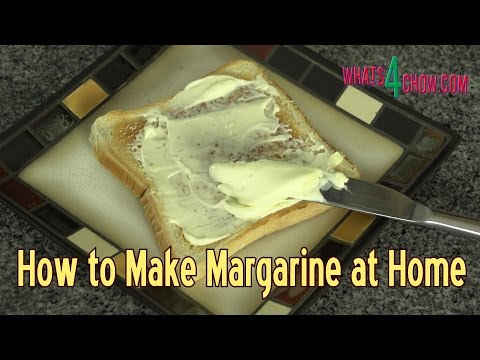 How to Make Margarine at Home - Quick and Easy Homemade Margarine.