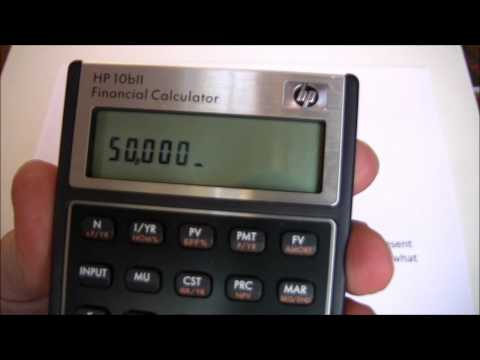 Capital Budgeting Part Three (HP10BII) -- Calculating Net Present Value