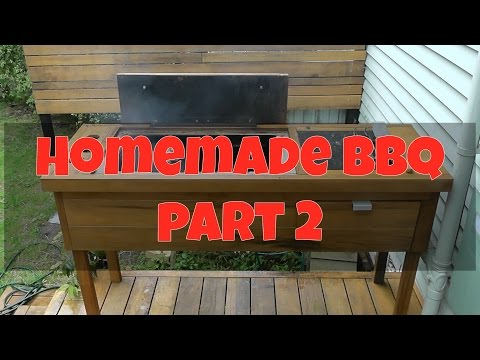 Homemade BBQ Build DIY Wood/Charcoal Barbecue Part 2: Completion