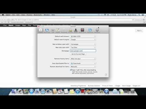 How to change your homepage on Safari