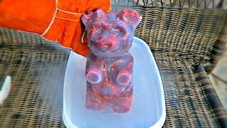 5lb Gummy Bear into Liquid Nitrogen