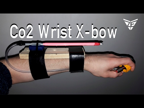 Co2 Powered wrist Crossbow (DIY challenge)