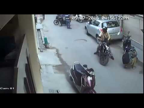 CCTV | Scooter storage box locks are not safe . Packetful of money stolen