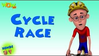 Motu Patlu Cartoons In Hindi |  Animated Series | Cycle Race | Wow Kidz