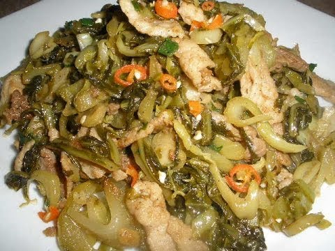 Stir Fry Pork with Pickled Green Mustard