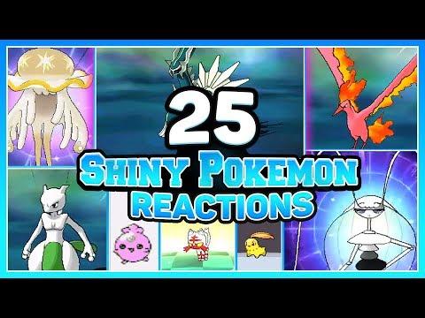 25 LIVE CRAZY SHINY POKEMON REACTIONS! w/ @Poijz (126-150)