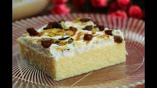 كيكة جوز الهند الباردة حلويات سهلة وسريعة بدون فرن حلى الجوز الهند البارد مع رباح ( الحلقة 519 )