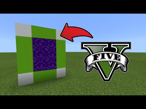 How To Make a Portal to the GTA 5 Dimension in MCPE (Minecraft PE)
