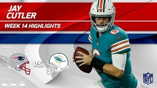 Jay Cutler Gets the Win w/ 3 TDs & 263 Yards!   Patriots vs. Dolphins   Wk 14 Player Highlights