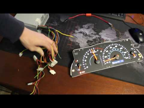 How to light up your cluster speedometer for mileage bench test Toyota Camry 07-11