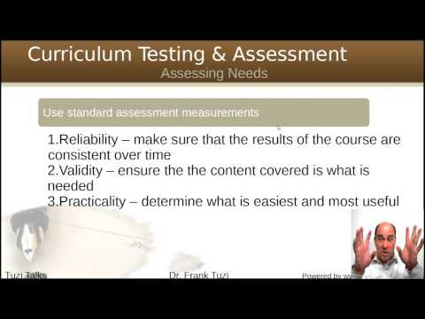 NeedsAnalysis For Curriculum Design
