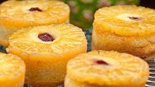 (Eng Sub) Resep Mini Cake Nenas ( Pineapple Upside Down Cupcake) Resep Kue Basah