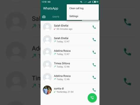How to clear WhatsApp call logs
