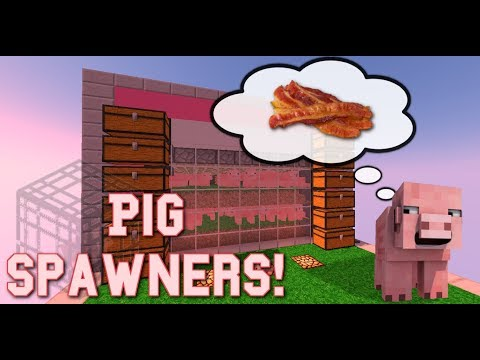 How to Farm Pig Spawners in Survival!   Minecraft 1.12   +Uma