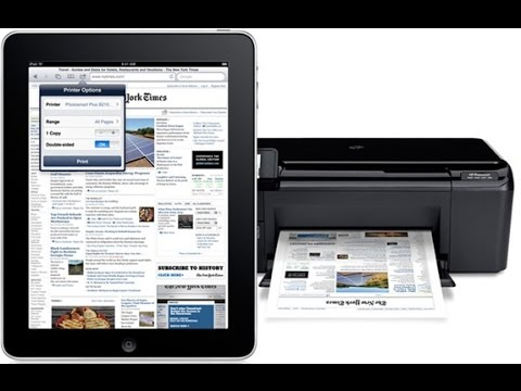 How to print from IPad or Iphone wirelessly