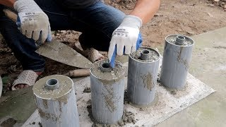 Amazing Ideas Construction Homemade Dumbbells Cement Using Plastic Pipe a Correctly