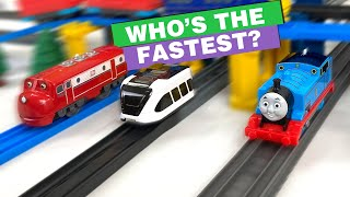 Thomas, Wilson and Intelino Smart Train Find Out Who's the Fastest Train