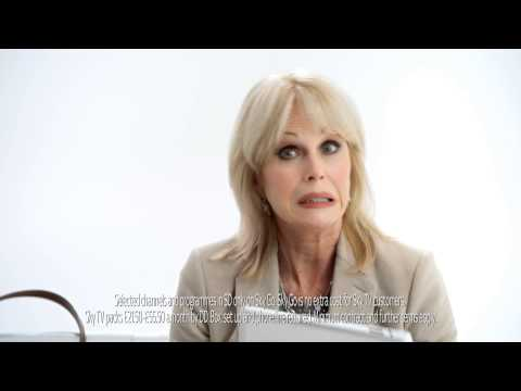 Sky Joanna Lumley Advert - Out and about with Sky Go