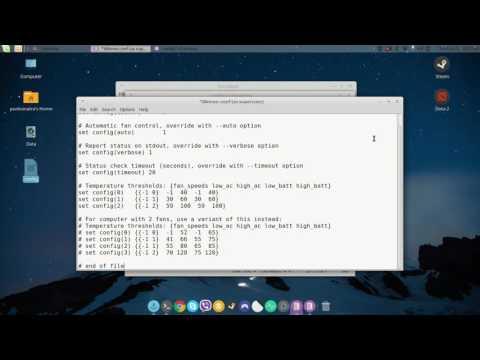 Linux Mint 18 (Sarah) Dell Inspiron 5521 Fan Speed Fix