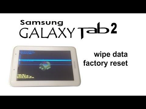 Samsung GALAXY Tab 2 - Unlock Password / Pattern Lock (Wipe data / Factory reset)