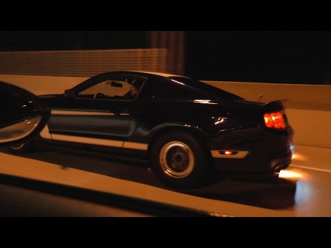 Supercharged M3 vs blown BOSS vs bolt-on GT500 – 600HP THREE WIDE!