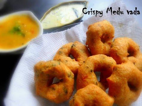 Medu vada recipe - Perfect shape and crispy !