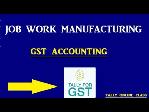 Job Work Manufacturing With GST | JOB WORK PROCESS Tally.ERP9