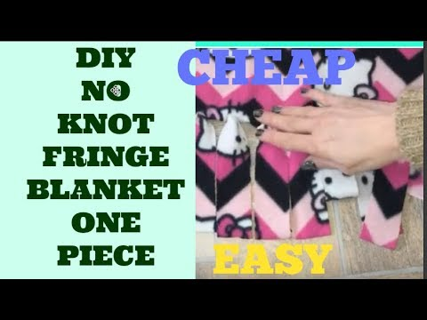 Diy one piece fleece no knot no tie no sew big blanket