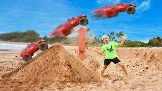 RC CAR BEACH JUMP!!