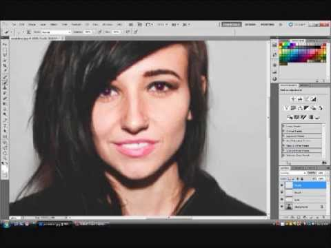 Adobe Photoshop CS5 Tutorial: How to change eye color, lip color, and teeth.