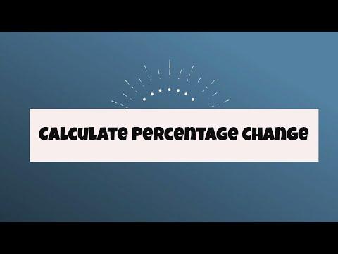 Percentage Change- Increase and Decrease