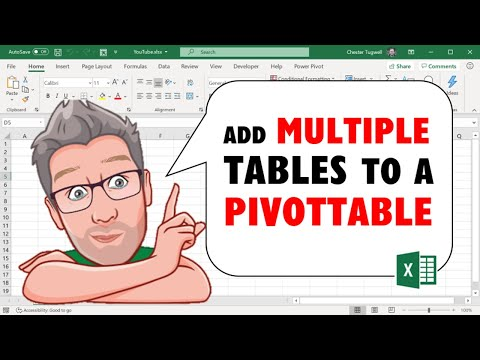 Excel 2013 Add Multiple Tables to a PivotTable with the Data Model