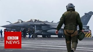 Behind the scenes of an air strike - BBC News