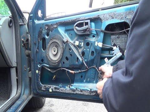 How to change an electric/power window regulator front door